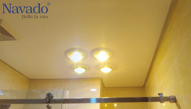 Có nên sử dụng đèn sưởi nhà tắm hay không?