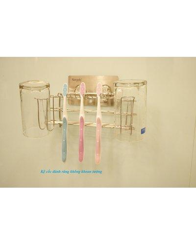 Kệ inox đánh răng dán tường tiện ích siêu bền GS-3014
