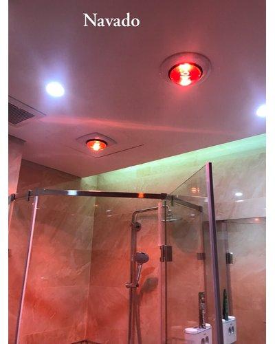 Đèn sưởi 2 bóng âm trần phòng tắm Hà Nội
