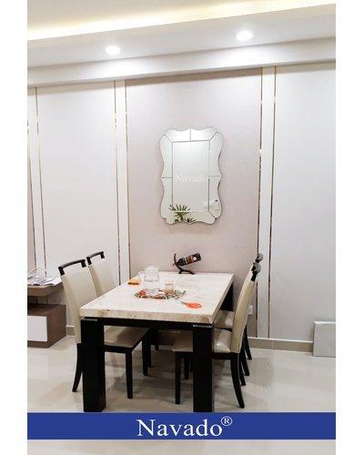 Gương treo tường nghệ thuật phòng khách navado