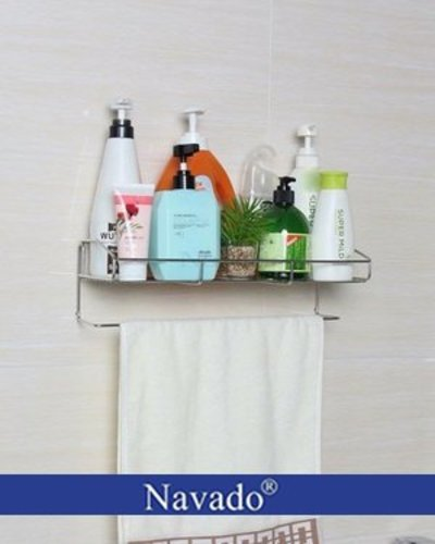 Giá inox để phòng tắm dán tường siêu bền GS-5016
