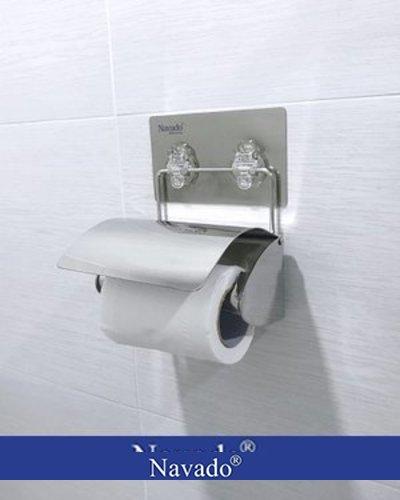 Kệ inox lô giấy dán tường phòng tắm GS-6002