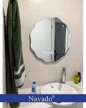 Gương tròn nhà tắm mài vát 543C