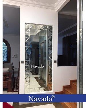 Gương ghép soi toàn thân phòng khách