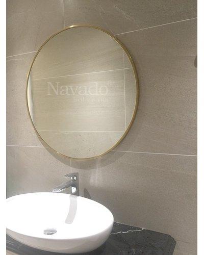 Gương phòng tắm viền inox