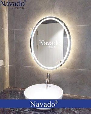 Gương Elip phòng tắm đèn Led