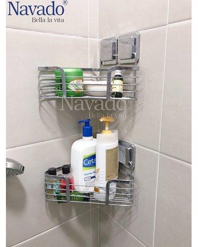 Kệ góc inox phòng tắm đựng đồ Navado