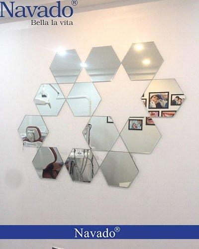 Gương ghép tường lục giác ngôi sao