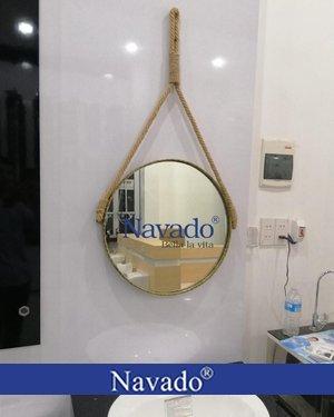 Gương phòng tắm treo dây thừng 50cm