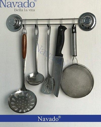 giá treo inox dụng cụ nhà bếp
