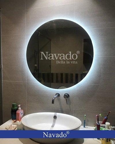 Gương tròn nhà tắm đèn led Navado