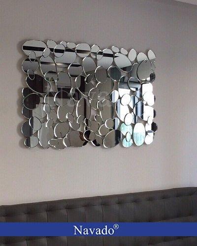 Gương ghép tường hình lá