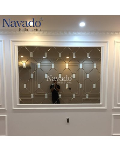 Gương ghép tường decor cao cấp nghệ thuật Thanh Hóa