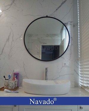 Gương tròn nhà tắm treo tường