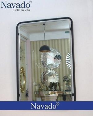 Gương vành thép Giza ống đen