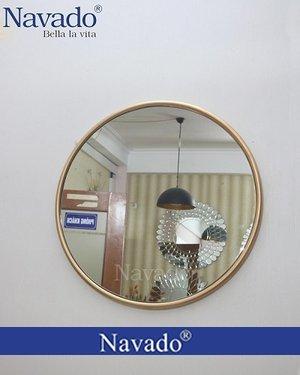 Gương vành thép ống màu Gold