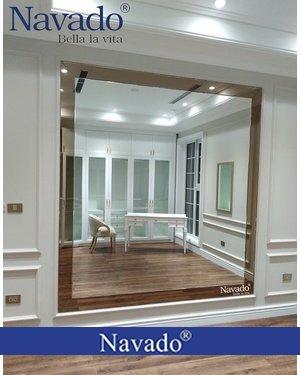 Gương decor kết hợp khung gương màu