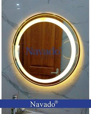 Gương tròn đèn led PVD bàn trang điểm