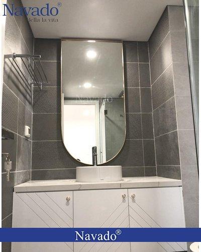 Gương mái vòm PVD phòng tắm