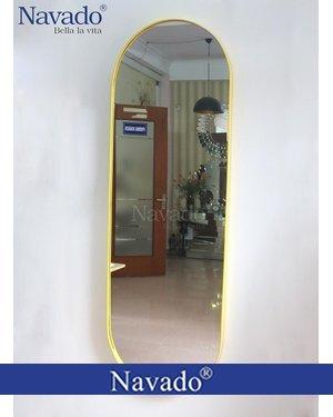 Gương soi toàn thân vành thép vàng