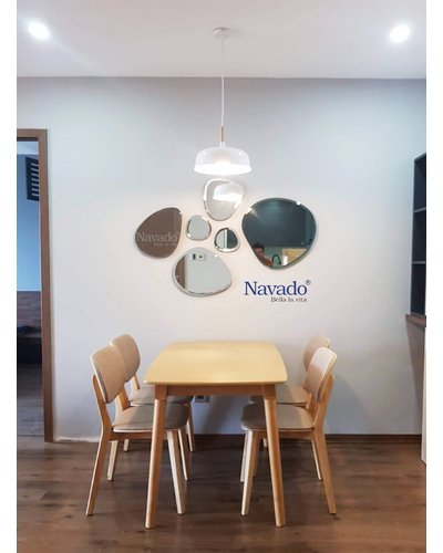 Gương trang trí decor tường bàn ăn Island One