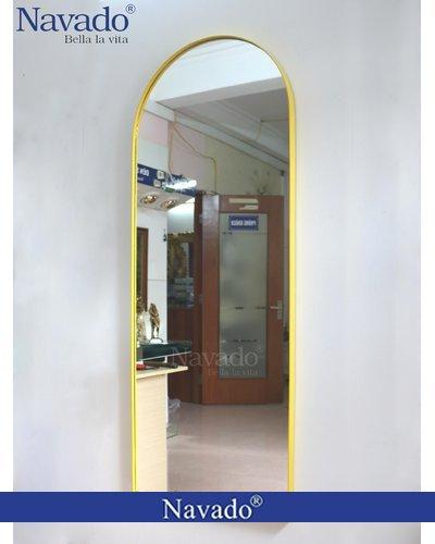 Gương soi toàn thân mái vòm vành thép