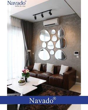 Gương trang trí decor tường phòng khách TiffanyHome