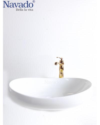 Chậu sứ lavabo phòng tắm RS1033