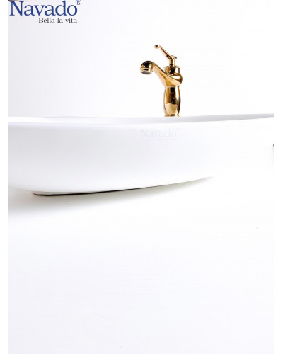 Chậu lavabo sứ nghệ thuật phòng tắm RS1007