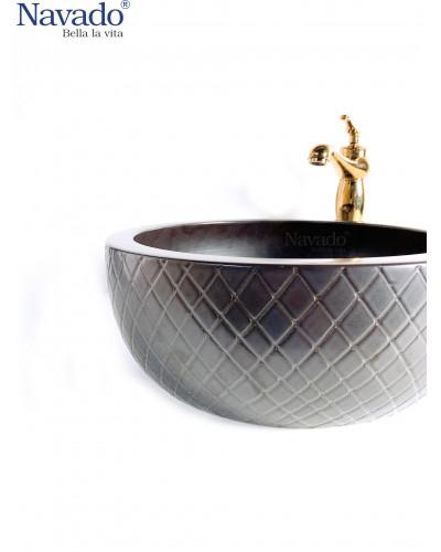 Chậu đá lavabo nghệ thuật phòng tắm RS-102