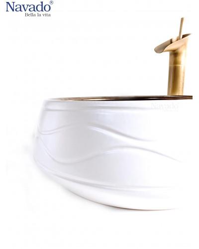 Chậu sứ nghệ thuật phòng tắm RS1146WB