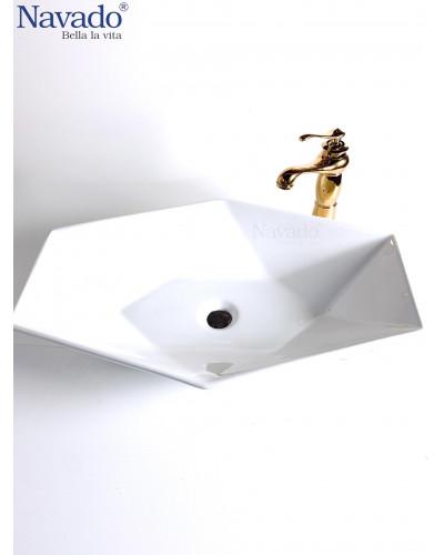Chậu rửa mặt Lavabo cao cấp nghệ thuật RS1077