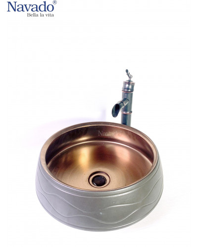 Chậu sứ lavabo phòng tắm cao cấp RS1146B