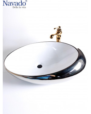 Chậu lavabo  sứ nghệ thuật 1171WS