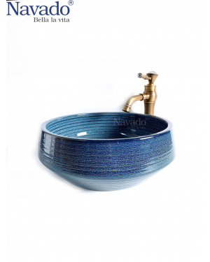 Chậu sứ lavabo decor RS1146E