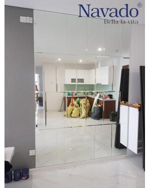 Bán gương kính ghép tường nghệ thuật phòng khách