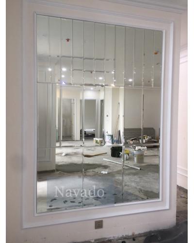 Gương ghép phòng khách decor