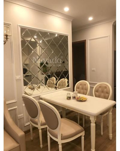 Gương ghép tường nghệ thuật bàn ăn phòng khách