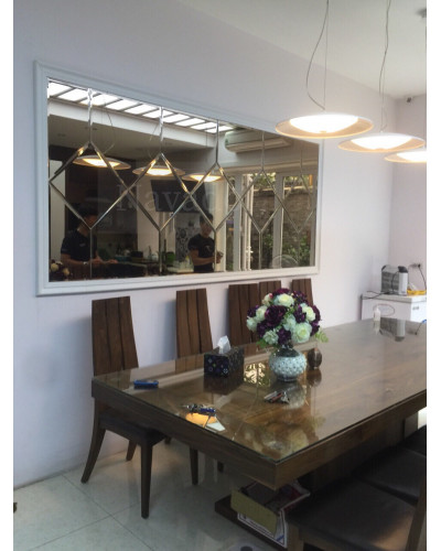 Gương trang trí màu trà phòng khách