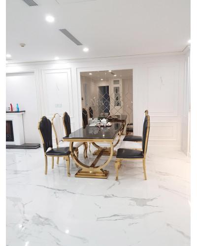 Gương kính bỉ màu trà trang trí nội thất phòng khách