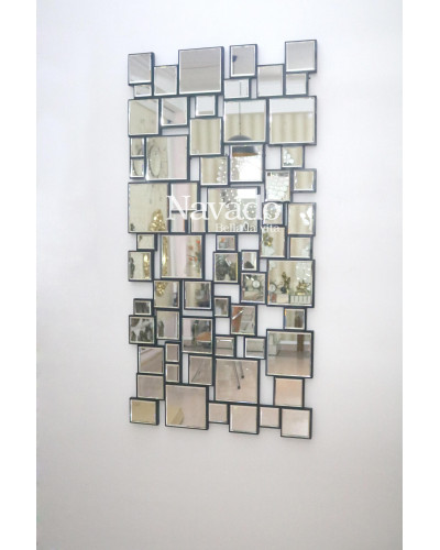 Gương ghép nghệ thuật trang trí treo tường decor
