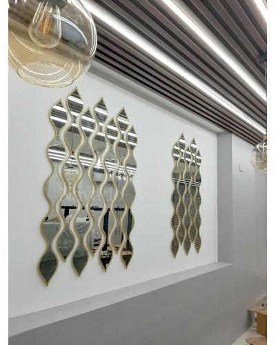 Bán gương trang trí dây inox gương decor phòng khách