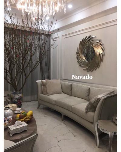 Bán gương tân cổ điển trang trí phòng khách NUT