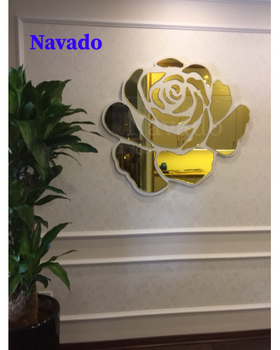 Sản xuất gương treo tường decor Hoa Hồng