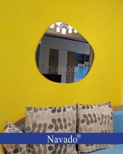 Sản xuất gương màu trà decor treo tường phòng khách Mắt Kính