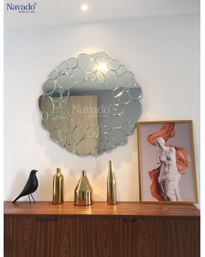 Bán gương trang trí nghệ thuật phòng khách Queen