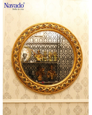 Bán gương tròn khung tân cổ điển Helios