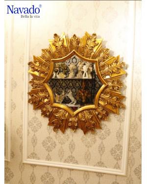 Gương trang trí decor tân cổ điển phòng khách cao cấp PAN