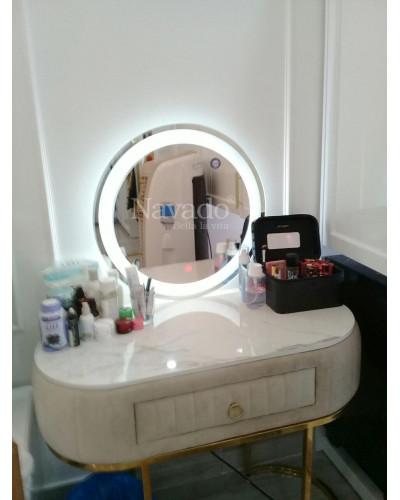 Gương tròn đèn led cao cấp bàn trang điểm