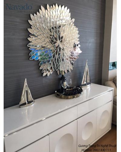 Gương decor treo tường phòng khách Nature